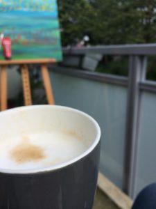 Workshops | Op het balkon aan het werk, uiteraard met koffie!