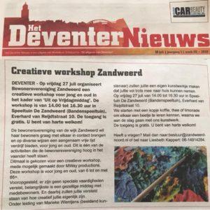 MWay productions | Persberichten | Workshop Zandweerd